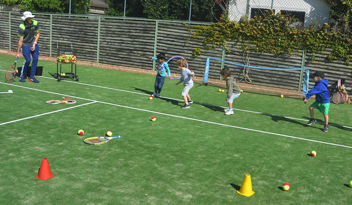 Sydney Kids Learning Tennis