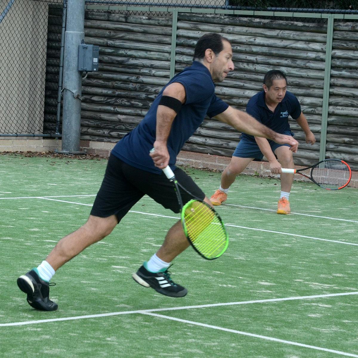 Sydney Tennis Player Running